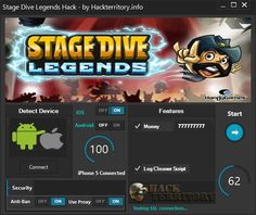 Stage Dive Legends Hack is a great hack that can generate unlimited Money and more. Download Stage Dive Legends Hack for free right now!