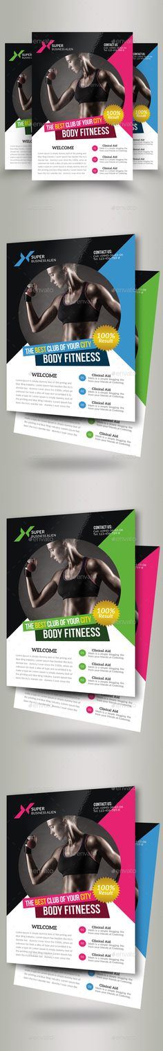 Fitness Flyer Flyer template, Template and Brochures - fitness flyer template