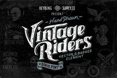 Hand Drawn Vintage Riders + Bonus by Heybing Supply Co. on Creative Market