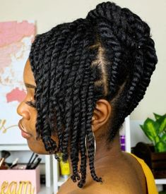 60 Easy and Showy Protective Hairstyles for Natural Hair Upswept Updo with Twist. - 60 Easy and Showy Protective Hairstyles for Natural Hair Upswept Updo with Twisted Layered Bang…# - Protective Hairstyles For Natural Hair, Natural Hair Braids, Twist Braid Hairstyles, Braided Hairstyles For Black Women, My Hairstyle, Bob Hairstyles, Wedding Hairstyles, Natural Updo Hairstyles, Hairstyles Videos