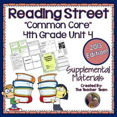 Reading Street Aligned Common Core 4th Grade Unit 4 Supplemental Materials 2013 : This bundle contains a variety of activities from each lesson of Unit 4 to teach, re-teach, practice or assess the various lessons taught. Each activity is unique to each lesson. $