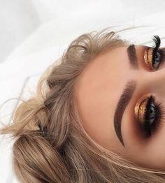 Gold Eye - Georgie Harbridge (Morphe 350M) #goldeyemakeup