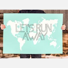 Let's Run Away Aqua, $38, now featured on Fab.