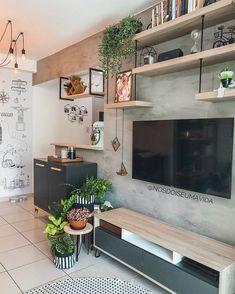 Condo Living, Home Living Room, Living Room Designs, Simple Living Room Decor, Living Room Decor Inspiration, Dream Home Design, Home Interior Design, House Design, Small Apartments
