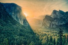 Sunrise at Yosemite valley Photo by Viet Dao -- National Geographic Your Shot