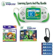 http://goo.gl/YsEOW. Leapfrog Leapster Explorer 39100 Green Game System Learning Fun Bundle