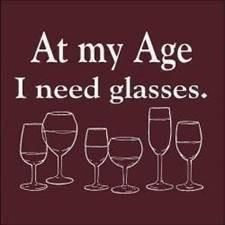 At my age, I need glasses. Happy #WW #WineWednesday