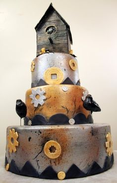 Wedding Cakes Pictures: Wedding Cake with Birds
