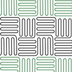 Basketweave - Digital - Quilts Complete - Longarm Continuous Line Quilting Patterns Quilting Stencils, Quilting Templates, Longarm Quilting, Free Motion Quilting, Quilting Tutorials, Quilting Ideas, Machine Quilting Patterns, Quilt Patterns Free, Block Patterns