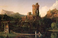 Landscape Composition Italian Scenery    Artist: Thomas Cole