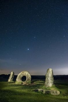 There are stars if you know where to look! Men-an-tol near Maldron Cornwall