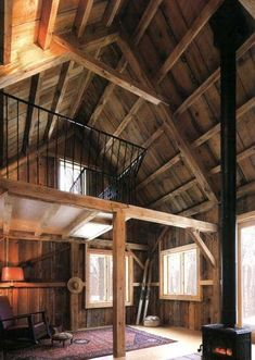 Tiny Houses:Small Spaces, Tiny Cabin in the Woods square feet! Construction Chalet, Minnesota, Cabin In The Woods, Cabin With Loft, Little Cabin, Cabins And Cottages, Tiny Cabins, Cabin Interiors, Wood Plans