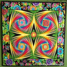 Tropical Flowers in Paradise quilt Betty Holroyd Tampa, FL My version of George Siciliano's Cosmos pattern