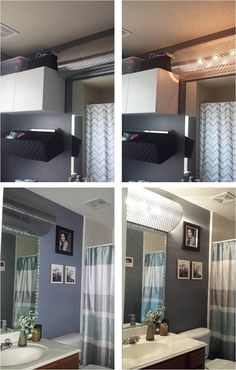 Ugly Bathroom Light Fixtures a great, easy and cheap way to cover up those 90's hollywood light