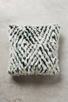 Anthropologie Diamante Faux-Fur Pillow