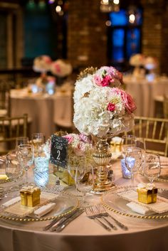 Glamorous Miami Wedding from Ricky Stern - wedding centerpiece idea
