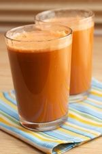 "Fresh start-  Apples - 2 medium (3"" dia)  Carrots - 3 medium  Celery - 4 stalk, large (11""-12"" long)  Directions Process all ingredients in a juicer, shake or stir and serve. this website has many gret jucing recipes"