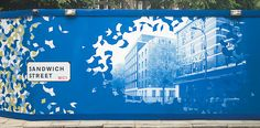 UPP UoL hoardings design building Retail Signage, Wayfinding Signage, Signage Design, Layout Design, Mosaic Wall Art, Diy Wall Art, White Wall Art, Large Wall Art, Hoarding Design