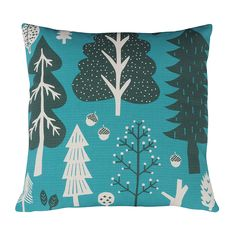Donna Wilson – Forest Cushion – Turquoise – Front
