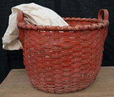 Blue Dog Antiques - Home Old Baskets, Vintage Baskets, Wicker Baskets, Antique Paint, Antique Decor, Painted Baskets, Nantucket Baskets, Country Treasures, Bee Skep