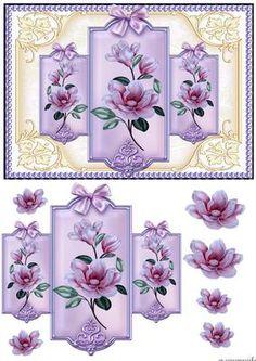 Vintage Magnolia Blossoms Panels on Craftsuprint designed by Marijke Kok…