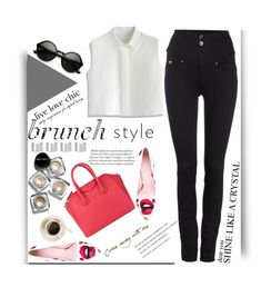 """Brunch"" by younica ❤ liked on Polyvore featuring Giamba, Bobbi Brown Cosmetics, Givenchy, Maison Margiela, Chicwish, Salsa and brunch"