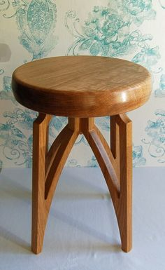 A low stool project I have just completed, made from Oak.