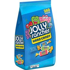 Amazon.com : JOLLY RANCHER Assorted Candy, Bulk Candy, Blue Raspberry, Green Apple, Cherry, Grape and Watermelon, 5lb Bag : Grocery & Gourmet Food Candy Favors, Bulk Candy, Candy Store, Holiday Candy, Halloween Candy, Ranchero Alegre, Sugar Free Hard Candy, Jolly Rancher Hard Candy, Chewy Candy