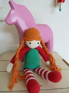 Crochet Doll pippi longstocking