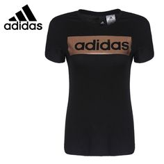 Original New Arrival 2017 Adidas Linear Foil Tee Women's T-shirts short sleeve Sportswea