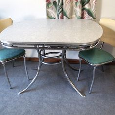 vintage chrome and formica table omg the red checkered sides