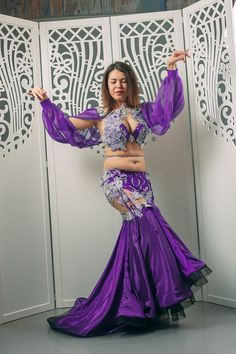 Luxury Bellydance orientaldance arabiandance Costume by Atelier Pokrovska #BellyDancingCostumes #BellyDancing #orientaldance #danseorientale #danzaorientale #danzadelvientre #danzaoriental #сosplay #goddess #Purple #festival