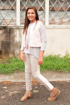 Pre Order ST Girls Blush Pink and Silver Glitter Leggings (October) – Southern Tots