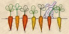 Urban Threads - Bunny's Harvest $7.00