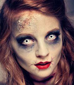 #Make-up 2018 15 + Halloween Puppe Gesicht Make-Up Ideen für Mädchen & Frauen 2018 #15 #+ #Halloween #Puppe #Gesicht #Make-Up #Ideen #für #Mädchen #& #Frauen #2018