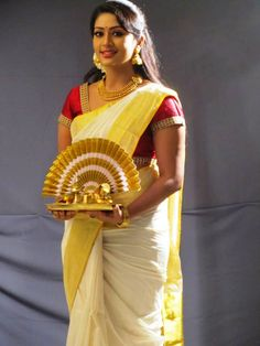 Navya Nair in Traditional Kerala Dress