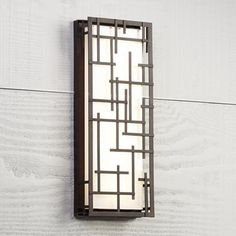 Modern Lines 16 And One Quarter Inch High Bronze Led Outdoor Wall Light Modern Outdoor Wall Lighting, Led Outdoor Wall Lights, Glass Wall Lights, Outdoor Sconces, Patio Lighting, Outdoor Walls, Lighting Ideas, Kitchen Lighting, House Lighting