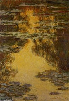 Water-Lilies by Claude Monet. Details of painting available on http://en.wahooart.com/A55A04/w.nsf/OPRA/BRUE-8EWEQJ