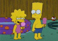 gif the simpsons simpsons lisa simpson lisa bart bart simpson season 6 lisa on ice The Simpsons, Simpsons Meme, Simpsons Quotes, Image Triste, Simpson Tumblr, Bart And Lisa Simpson, Los Simsons, Rick E, Gifs