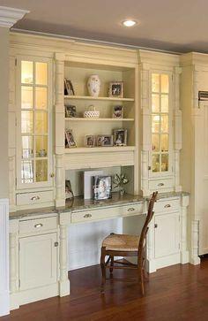 Kitchen Desks Ideas | Custom Home Renovation Photos : Kitchens, Bathrooms, Interior ...