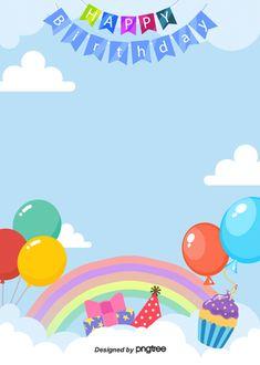background of cartoon cute happy birthday poster Happy Birthday Font, Happy Birthday Posters, Birthday Text, Happy Birthday Celebration, Birthday Frames, Happy Birthday Greeting Card, Happy Birthday Balloons, Happy Party, Happy Birthday Parties