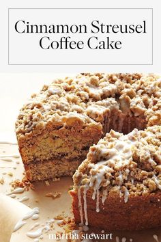 Everyone needs a delicious coffee cake recipe in their repertoire and this cinnamon streusel coffee cake recipe is the perfect option marthastewart recipes recipeideas dessert dessertrecipes Easy Cake Recipes, Baking Recipes, Dessert Recipes, Dessert Blog, Delicious Cake Recipes, Recipes Dinner, Food Cakes, Bundt Cakes, Layer Cakes