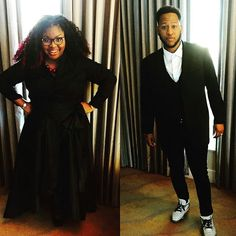 Fashion styles of Cora Jakes Coleman and her husband Brandon Coleman.