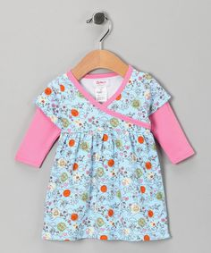 Take a look at this Bluebird Windy Day Organic Long-Sleeve Surplice Dress - Infant by Zutano on #zulily today!