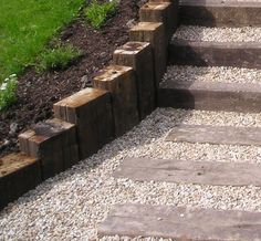 railway sleepers front garden - Google Search