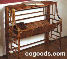 Ccgoods Bamboo Book Shelf,Rattan Book Shelf,Cane Rattan Shelf,Shelf,Bamboo