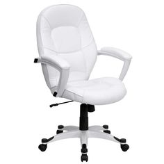 Comfortable Office White Curved Mid Back Ergonomic Swivel Arm Chair With Five Wheels As Well As Discount Office Chairs Plus Office Chair Reviews of Modern Stylish Ikea Ergonomic Office Chair Products from Furniture Ideas