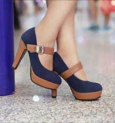 Be cute and fashion with this bow high heel shoes