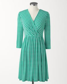 Coldwater Creek Mini checks dress on shopstyle.com