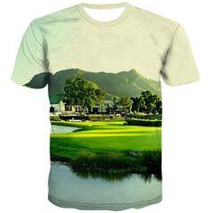 Golf T Shirts, 3d T Shirts, Printed Shirts, T Shirt Printer, City Streets, Exterior Colors, Fashion Prints, Cool Stuff, Casual